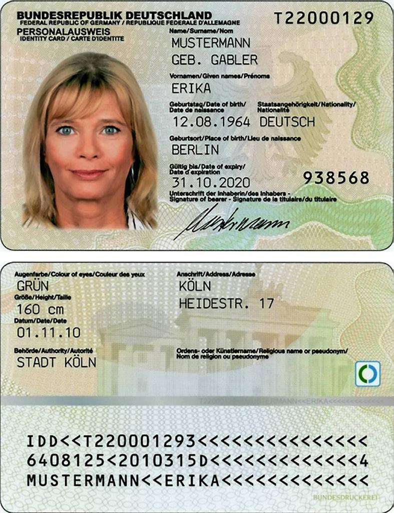 Neuer elektronischer Personalausweis