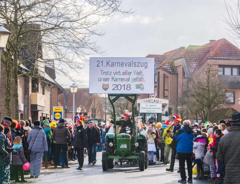 21ter Karnevalszug 2018 in Velen